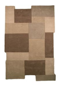 Collage stone abstract rug range