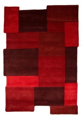 Flair Rugs Collage Abstract Red Rug Range