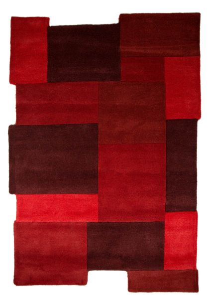 Flair Rugs Collage Red Rug  150X240