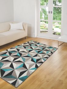 Flair Rugs Scorpio teal wool rug range