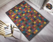 Campari Multi colour illusion rug