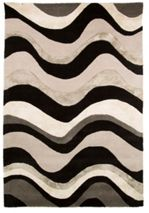 Flair Rugs Saria Black/Silver Rug 150X240