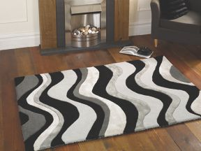 Flair Rugs Saria black & silver rug range