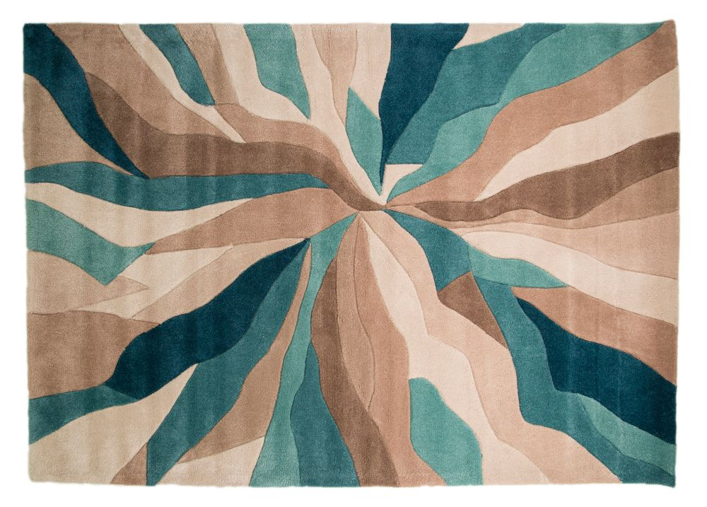 Flair Rugs Flair Rugs Abstract teal rug 120x170cm