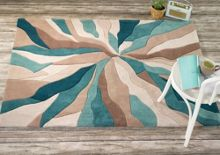 Flair Rugs Abstract teal rug range