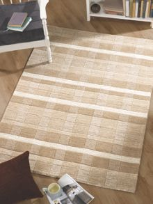 Maple Natural Stripe Block Rug Range
