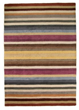 Flair Rugs Poplar multicolour stripe wool rug range