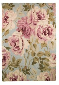 Grace light blue floral rug range