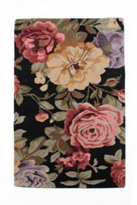 Faith black floral vintage rug range