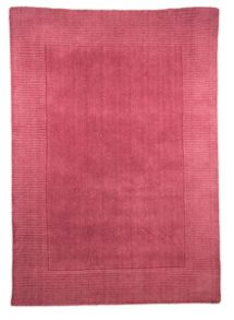 Siena raspberry red wool rug range