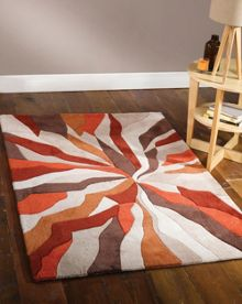 Flair Rugs Abstract orange rug range