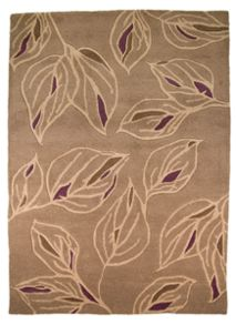 Branches taupe and purple rug range