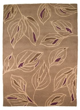 Flair Rugs Branches taupe and purple rug range