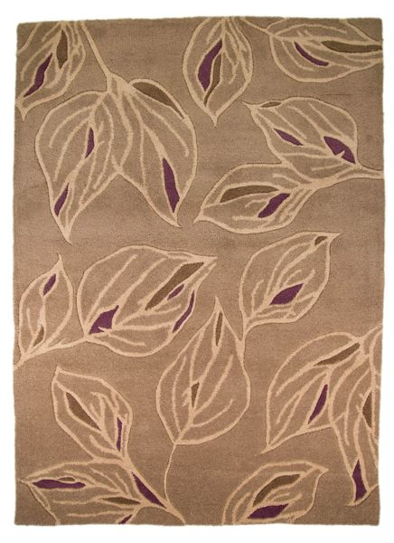 Flair Rugs Branches Taupe/Purple Rug 160X230