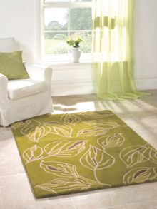 Branches grey and green rug range