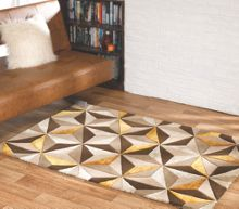 Flair Rugs Scorpio natural & orche wool rug range