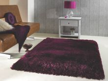 Pearl purple grape shaggy rug