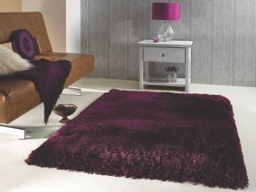 Flair Rugs Pearl purple grape shaggy rug
