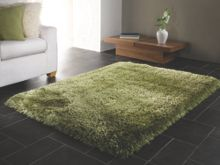 Flair Rugs Pearl sage green shaggy rug range