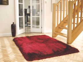 Flair Rugs Pearl raspberry red rug range