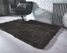 Pearl chocolate shaggy rug range