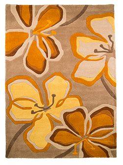 Passion Flower Taupe/Ochre Rug 160X230
