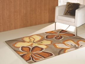 Flair Rugs Passion taupe & ochre floral rug range