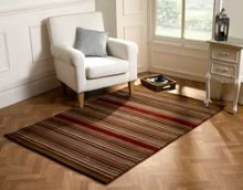 Flair Rugs Corn stripe Brown and red rug range