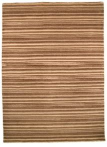 Oat Brown Natural Wool Stripe Rug