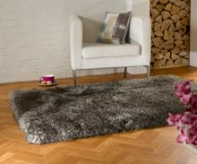Flair Rugs Pearl brown shaggy rug range