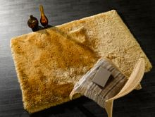 Flair Rugs Pearl mustard yellow shaggy rug range