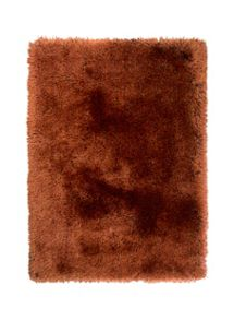 Flair Rugs Pearl ginger shaggy rug range