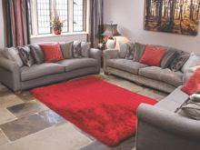 Flair Rugs Pearl red shaggy rug range