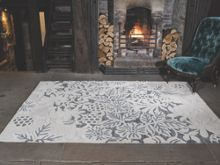 Flair Rugs Loxley White and Grey Wool Rug Range