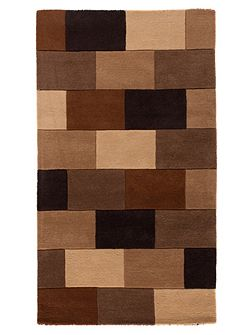 Elm brown blocks rug 120x170cm