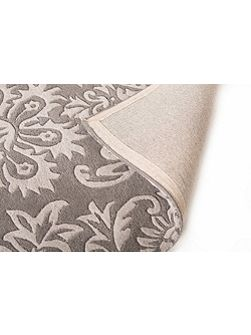 Ornate grey wool rug 160x230