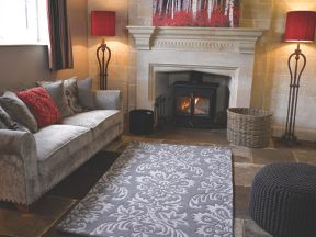 Flair Rugs Ornate Grey Wool Rug Range