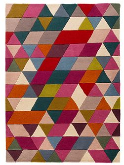 Prism pink and multi rug 80x150cm