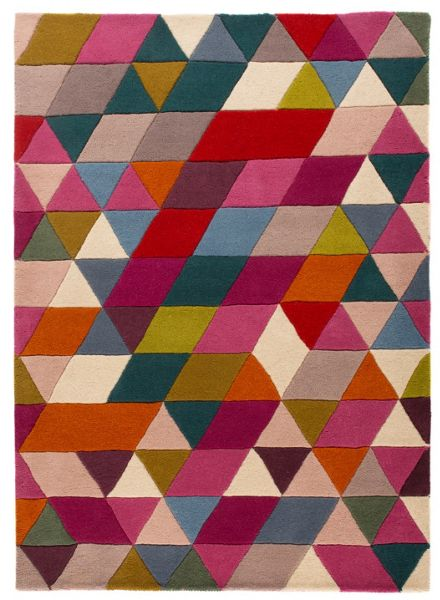 Flair Rugs Prism pink and multi rug 160x220cm