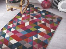 Flair Rugs Prism Pink Wool Rug Range