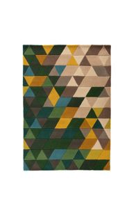 Flair Rugs Prisim Green Wool Rug Range