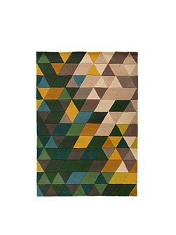 Prism green and multi rug 80x150cm
