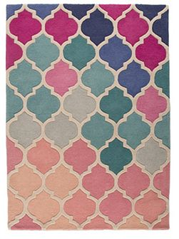 Rosella pink and blue rug 80x150cm