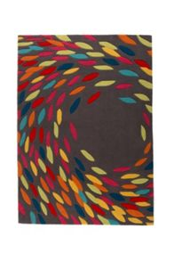Flair Rugs Trailing leaves grey multi rug range