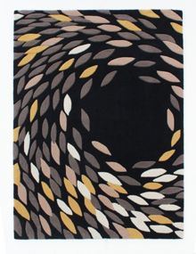 Flair Rugs Trailing leaves black gold rug range