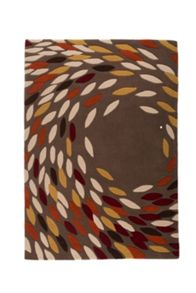 Flair Rugs Trailing leaves red ochre rug range