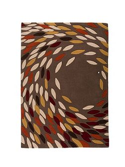 Trailing leaves red ochre rug 160x230cm