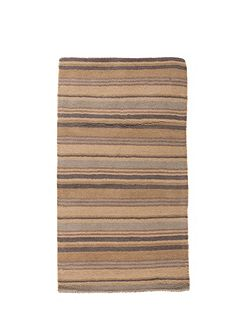 Birch blue and grey stripe rug 80x150cm