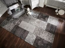 Flair Rugs Chenille Black and Grey Rug Range
