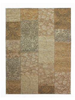 Chenille gold and beige rug 155x230